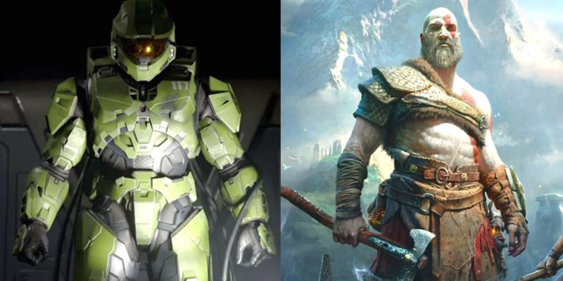 Master Chief Halo Infinite Kratos God of War