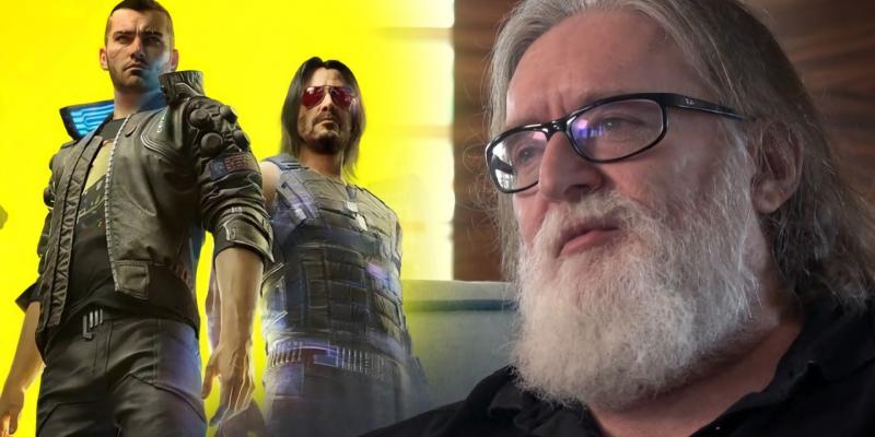 Gabe Newell Cyberpunk