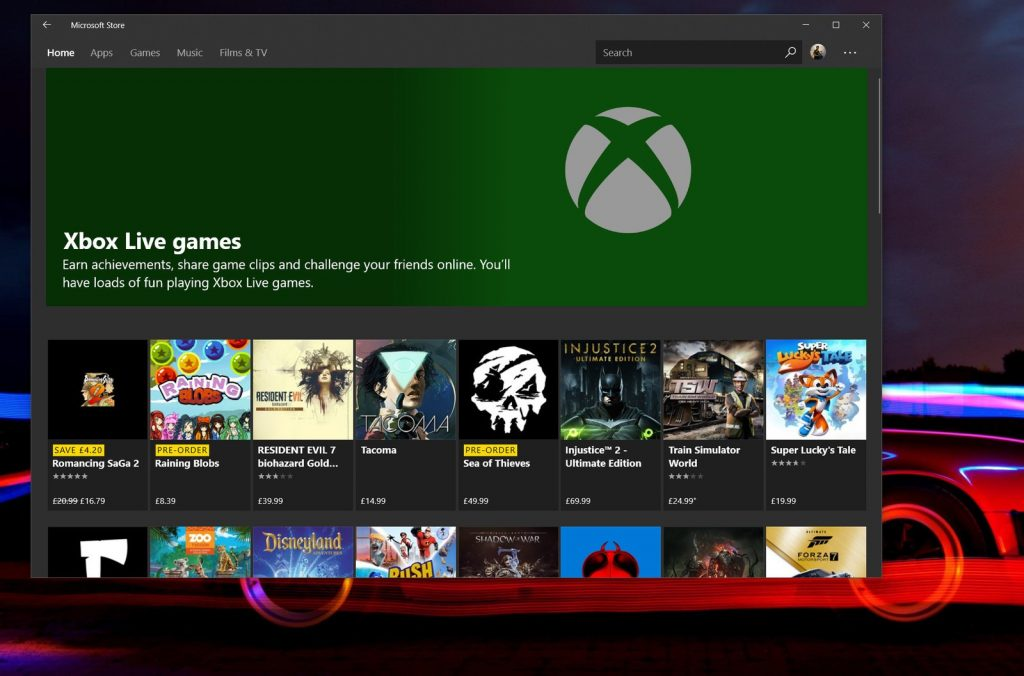 Xbox tienda store